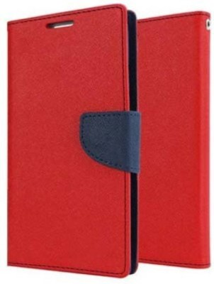 E TREE Flip Cover for Motorola Moto X Play Red