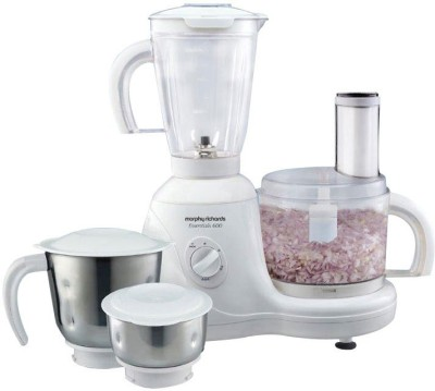 Morphy Richards Essential 600 W Food Processor(White)