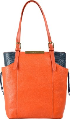 Hidesign Women Orange, Grey Hand-held Bag at flipkart