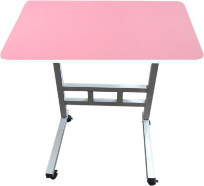 Furn Central Engineered Wood Portable Laptop Table(Finish Color - Pink)