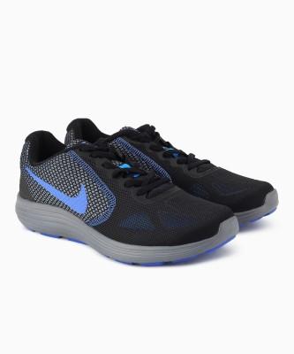 Nike REVOLUTION 3 Running Shoes For Men(Black, Grey) 1