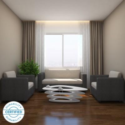 GIOTEAK KIMWEL Fabric 3 + 1 + 1 Grey Sofa Set