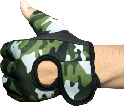 DreamPalace India GYM GLOVES | Men Gym Gloves | Fitness Gloves | Sport Gloves Gym & Fitness Gloves (Free Size, Green)