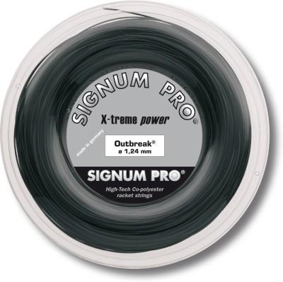 Signum Pro Outbreak 1.24mm- 200m Reel 1.24 Tennis String - 200 m(Black)