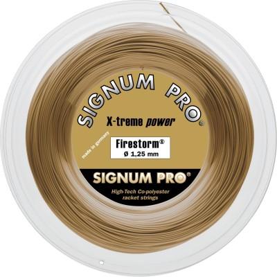 Signum Pro Firestorm  1.30mm 200m Reel 1.3 Tennis String   200 m Gold