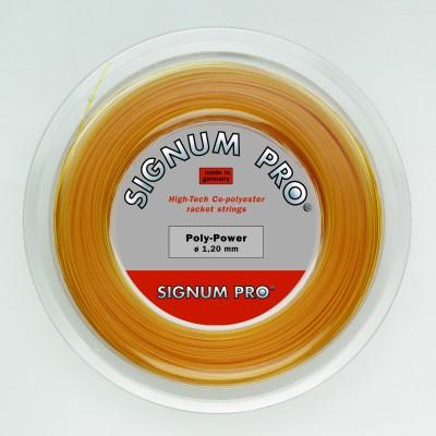 Signum Pro Poly Power 1.30mm- 200m Reel 1.30 Tennis String - 200 m(Gold)