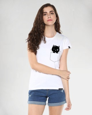 Young Trendz Abstract Women Round Neck White T-Shirt