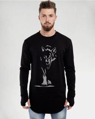 Young Trendz Graphic Print Men Round Neck Black T-Shirt