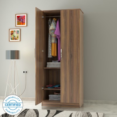 Flipkart Perfect Homes Julian Engineered Wood 2 Door Wardrobe(Finish Color - Walnut)