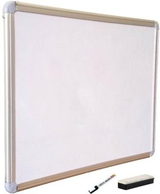 JAGMONI Non Magnetic Non magnetic Melamine Medium Whiteboards and Duster Combos(Set of 1, White)