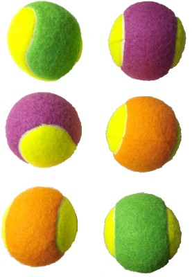 Tima Light Weight Cricket Tennis Ball  Pack of 6, Color   Double  Cricket Tennis Ball Pack of 6, Multicolor Tima Cricket Balls
