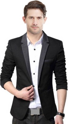 Pepe Jeans Woven Single Breasted Casual Men Blazer(Dark Blue)