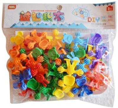 SANYAL Mini Bricks Blocks Toys for Kids Children Colorful Plastic Educational Animal Building Block Models     Multi color   Multicolor SANYAL Blocks