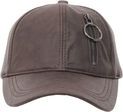 FabSeasons Solid Solid Casual Leather like PU unisex Baseball Cap & Hat with Adjustable Buckle Cap