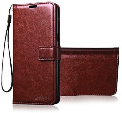 Bracevor Flip Cover for Lenovo K8 Plus(Executive Brown, Leather)
