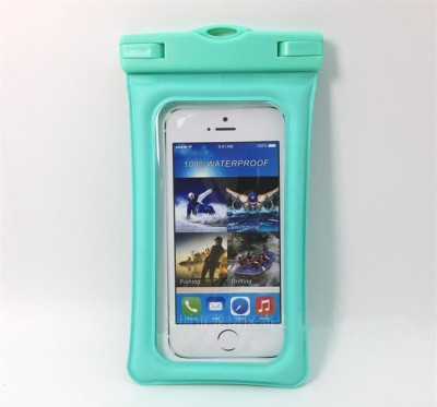 SAFESEED Pouch for Mobile Waterproof Pouch for All Smartphones(Teal, Waterproof, Rubber)
