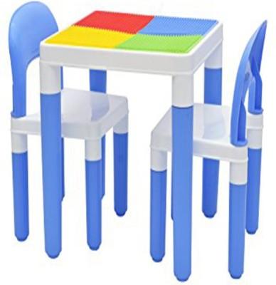 STEPUPP Plastic Desk Chair(Finish Color - White & Blue)