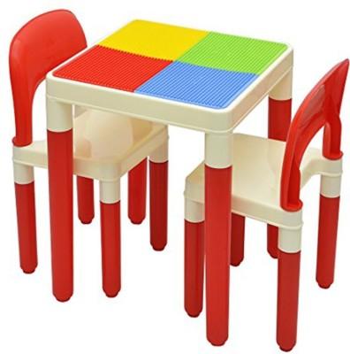 STEPUPP Plastic Desk Chair(Finish Color - Red)