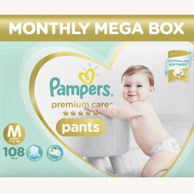 Pampers Premium Care Pants Diapers (108 PCS, M)