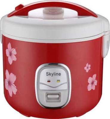 Skyline VT-9060 Electric Rice Cooker with Steaming Feature(1.8, Red) at flipkart