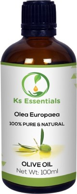 Ks Essentials Olive Carrier Oil- Pure Natural For Aromatherapy Body Massage, Skin Care & Hair Growth Hair Oil (100 ml) Hair Oil(100 ml)