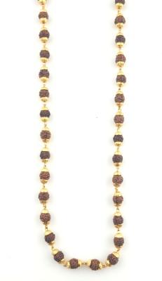 Seeyara 5 mukhi rudraksh mala Gold-plated Plated Brass Chain at flipkart