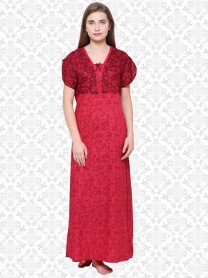 Divastri Women Nighty(Red)