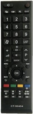 LipiWorld CT-90454 Remote Control Compatible Remote for  LCD LED Toshiba Remote Controller(Black)