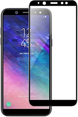 Casotec Edge To Edge Tempered Glass for Samsung Galaxy A6(Pack of 1)