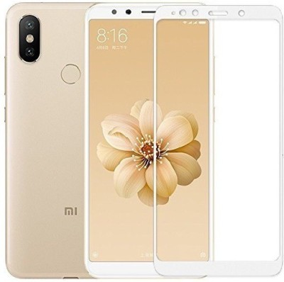 NKCASE Edge To Edge Tempered Glass for Mi A2(Pack of 1)