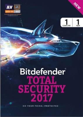 Bitdefender Total Security 2017 1 PC 1 Year Antivirus