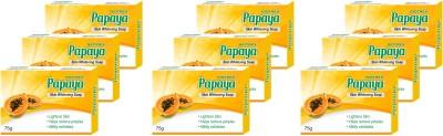 Biotrex Papaya Skin Whitening Soap, 75gm - Pack of 9(9 x 75 g)