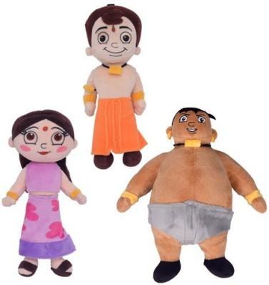 Chhota Bheem 3 IN 1 Bheem chutky kalia  - 22 cm(Multicolor)