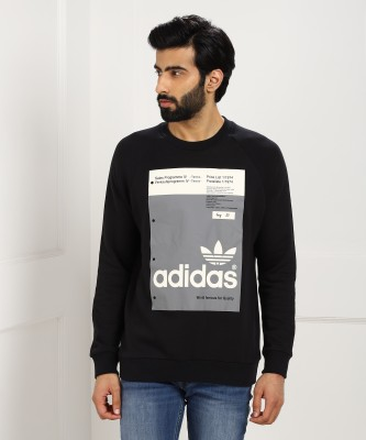 ADIDAS Full Sleeve Printed Men Sweatshirt at flipkart