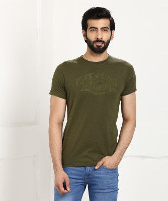 Pepe Jeans Printed Men Round Neck Green T-Shirt at flipkart