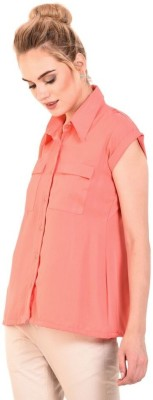 DEFFODIL Casual 3/4 Sleeve, Cap Sleeve Solid Women Yellow, Pink Top