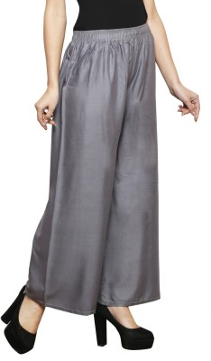 Clemente Flared Women Grey Trousers