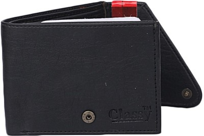 bagesi Men Casual Black Artificial Leather Wallet 4 Card Slots