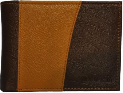 Hide   Sleek Men Casual Brown, Tan Artificial Leather Wallet 6 Card Slots