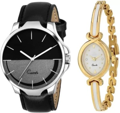 PARALLEL TIMES Presenting the Party Wedding + Formal Black+white Combination Watch For Boys n Girls Watch  - For Men & Women