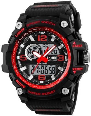 COSMIC SR-01 Stylish Pattern Red Love bracelet with black apple led combo party wear Watch  - For Men & Women