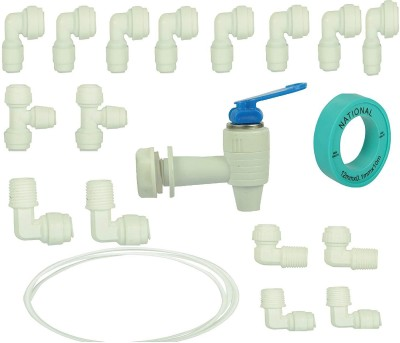 capital Pack, RO Tap & RO Combo, connector set, Tap,3 M Pipe Solid Filter Cartridge(0.5, Pack of 19)