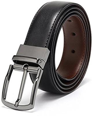 Urban alfami Men Formal, Casual, Party Black Texas Leatherite Reversible Belt
