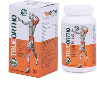 TCM Trueortho Plus Herbal Pain Reliever Capsules For Joints & Muscles 90 Capsules. Capsules(90 g)