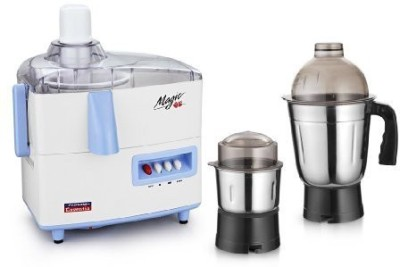 Padmini Essentia magic 450 W Juicer Mixer Grinder(white & blue, 2 Jars)  available at flipkart for Rs.2849