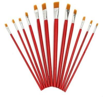 Imstar Artist Paint Brushes - Paint Brush Set - Paint Brushes for Art Craft, Oil Painting, Water Color Painting Brushes - 12 piece Paint Brushes(Multicolor)