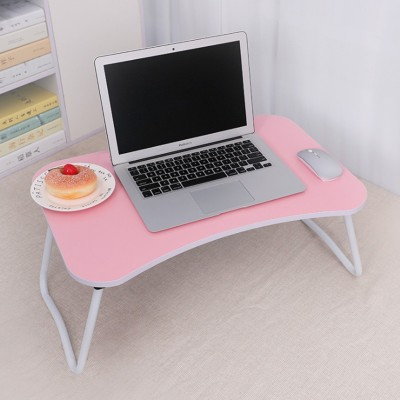 FurnCentral Engineered Wood Portable Laptop Table(Finish Color - Pink)