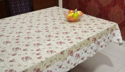 Rhome Printed 6 Seater Table Cover Multicolor, Cotton