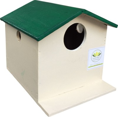 Nature's Wonder Green Bird House / Nest Box for Sparrows, Munias, Budgies, Finches & small Birds Bird House(Wall Mounting)