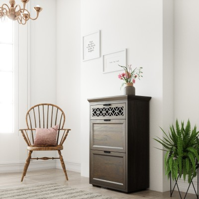 Furn Central Engineered Wood Free Standing Cabinet(Finish Color - White)